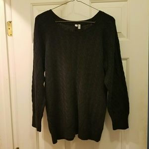Black Cabled Lightweight Sweater